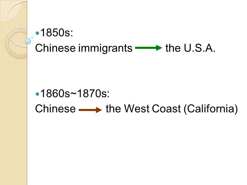 1860s, California: 84%: in rural mining regions 7.8%: in San Francisco 1870s, California: 24.4%: in San Francisco Chinatown