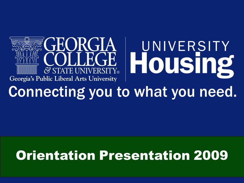 Orientation Presentation 2009
