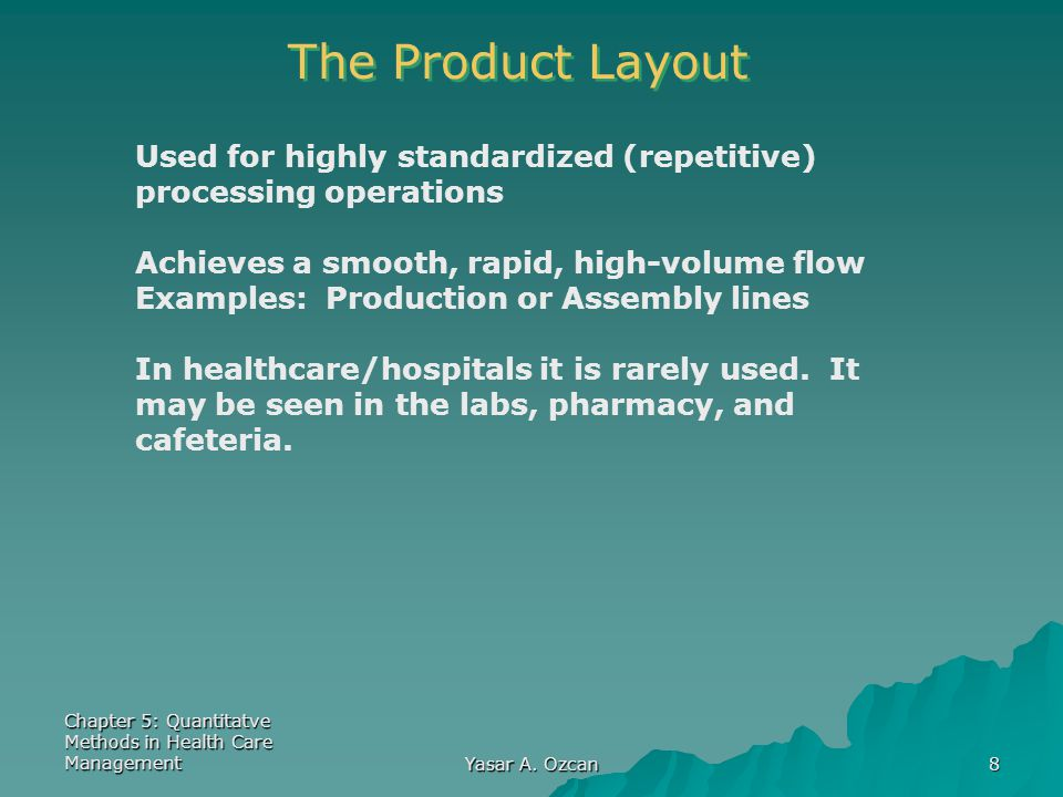 Chapter 5: Quantitatve Methods in Health Care Management Yasar A.