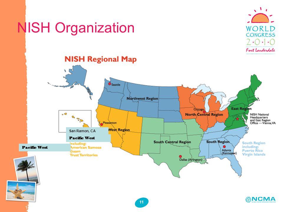 11 NISH Organization San Ramon, CA Pacific West