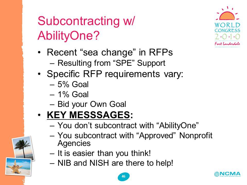 46 Subcontracting w/ AbilityOne.
