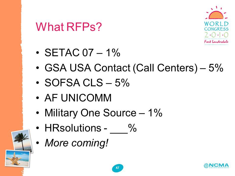 47 What RFPs.