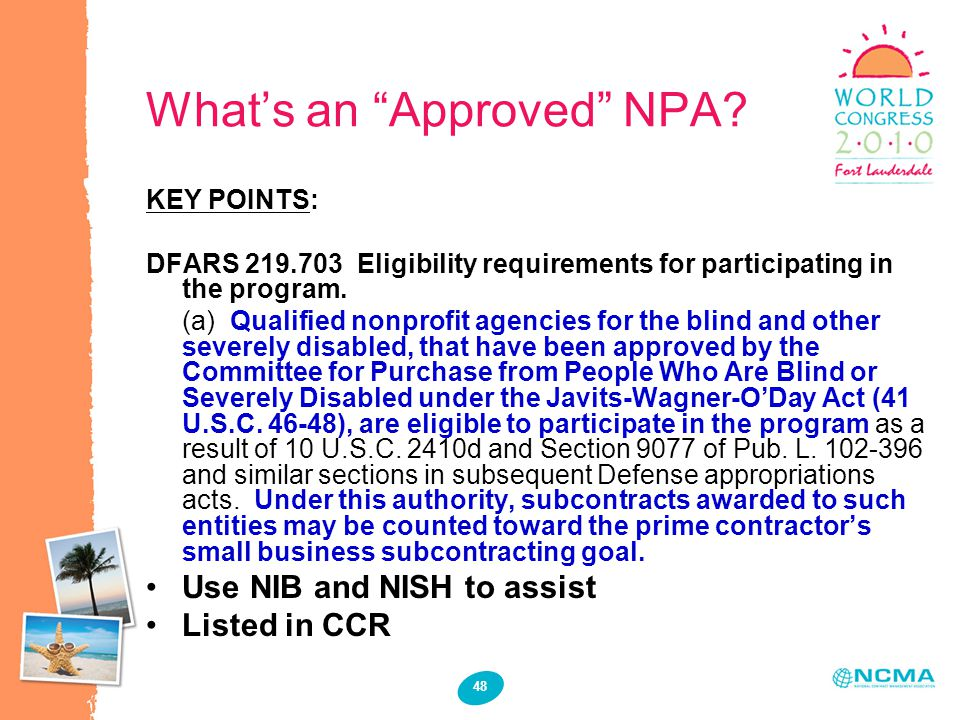 48 What's an Approved NPA.