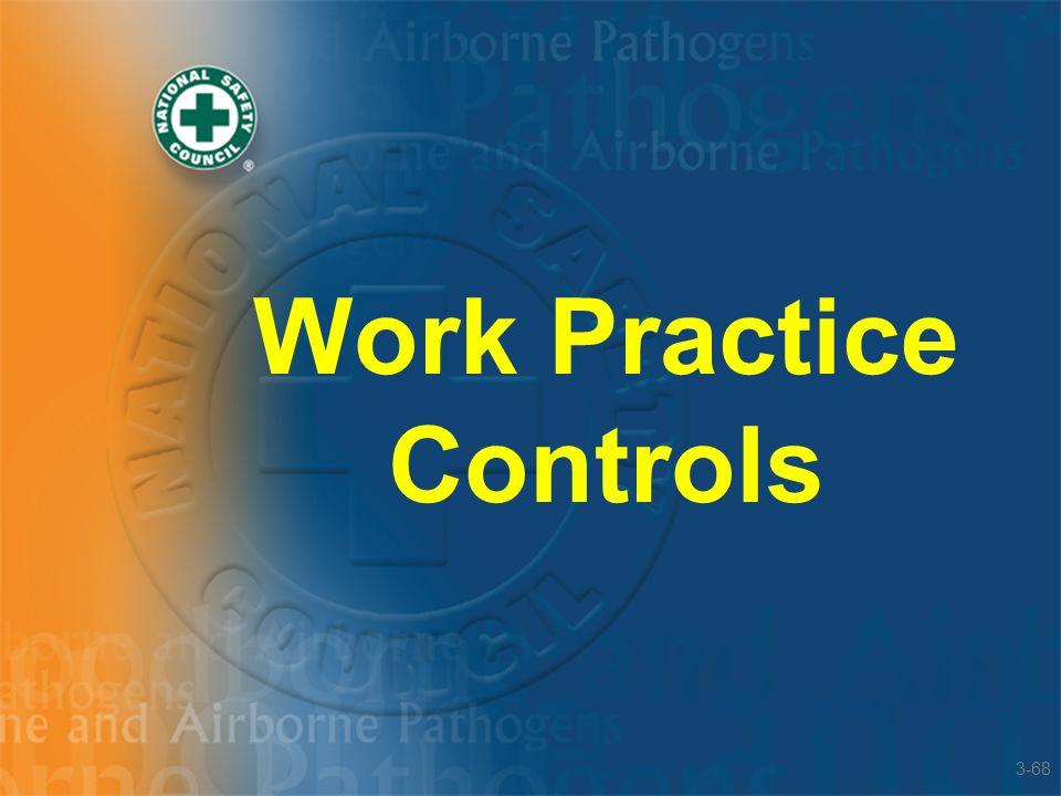 Work Practice Controls 3-68