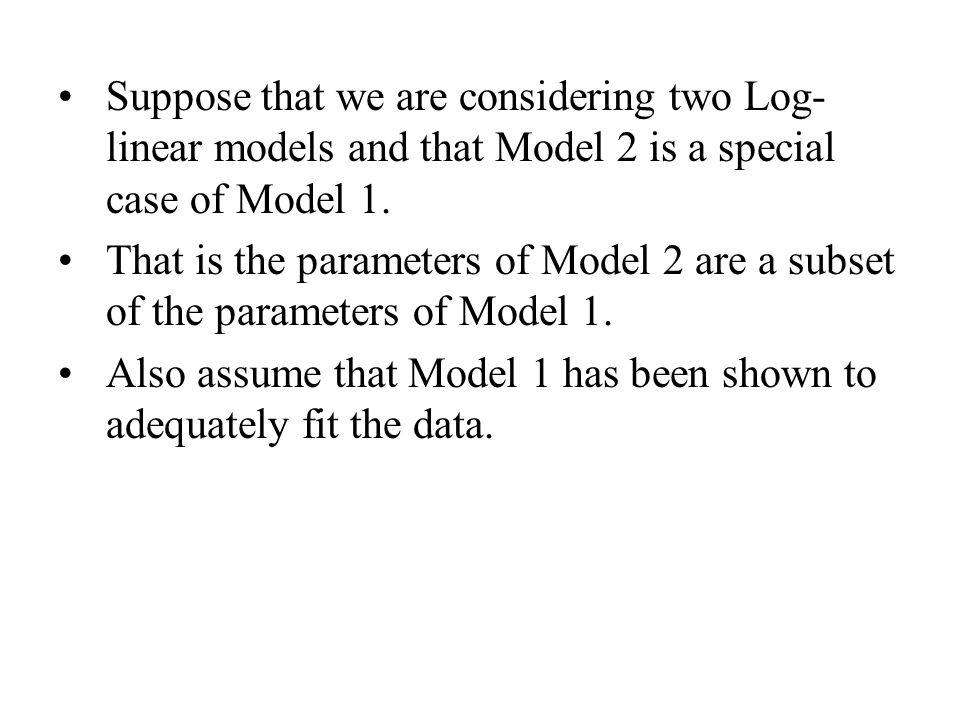 Backward Selection: Starting with a model that over fits the data, log-linear parameters that are in the model are deleted step by step until a model that continues to fit the model and has the smallest number of significant parameters is achieved.