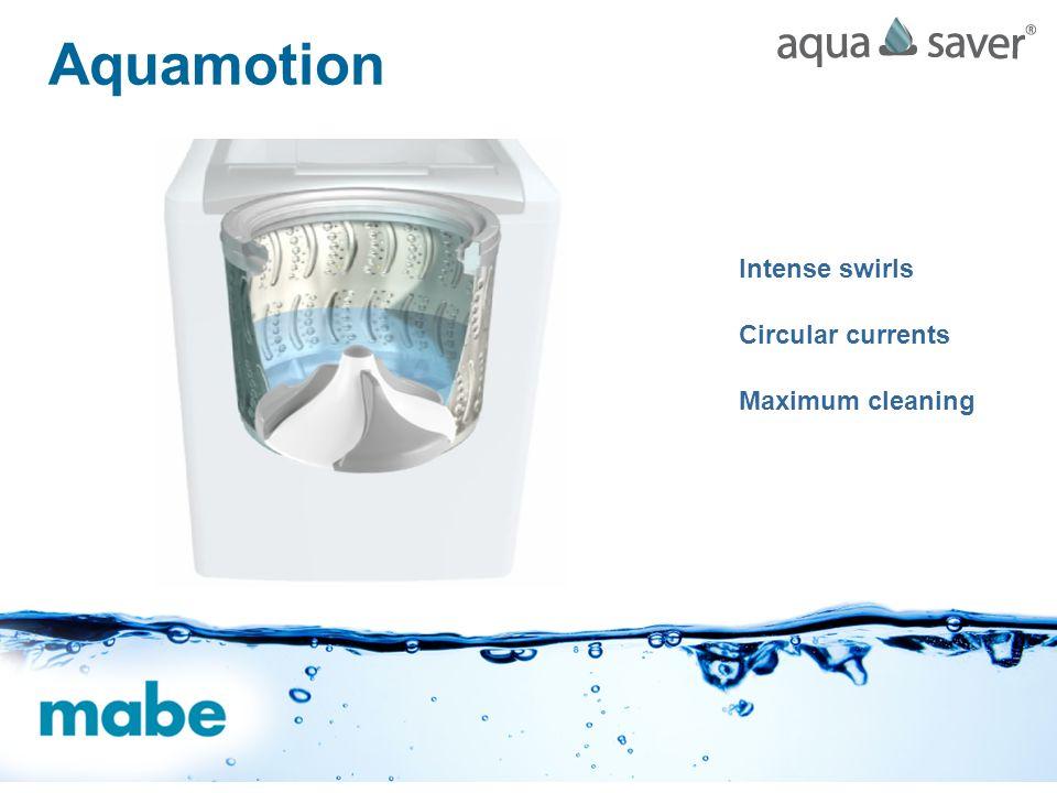 Intense swirls Circular currents Maximum cleaning Aquamotion