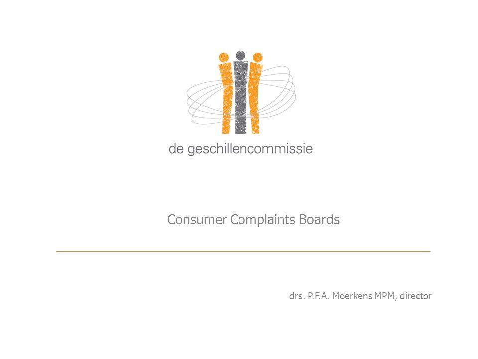 Consumer Complaints Boards drs. P.F.A. Moerkens MPM, director
