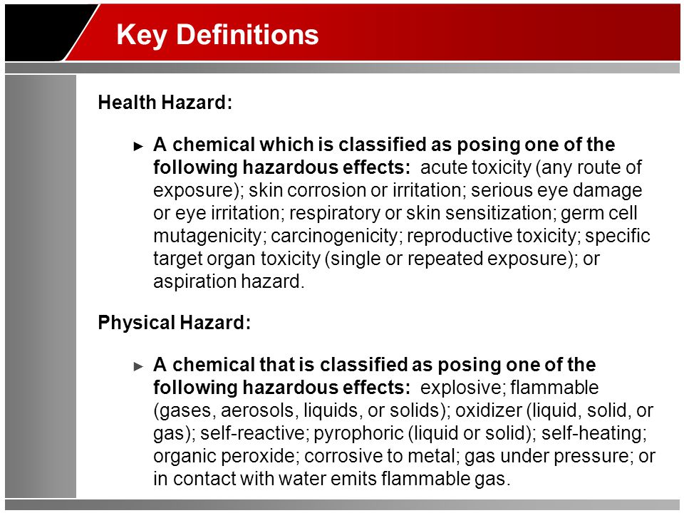 Safety Data Sheets (SDS) The SDS is used by chemical manufacturers and vendors to convey hazard information to users: ► SDSs should be obtained when a chemical is purchased.