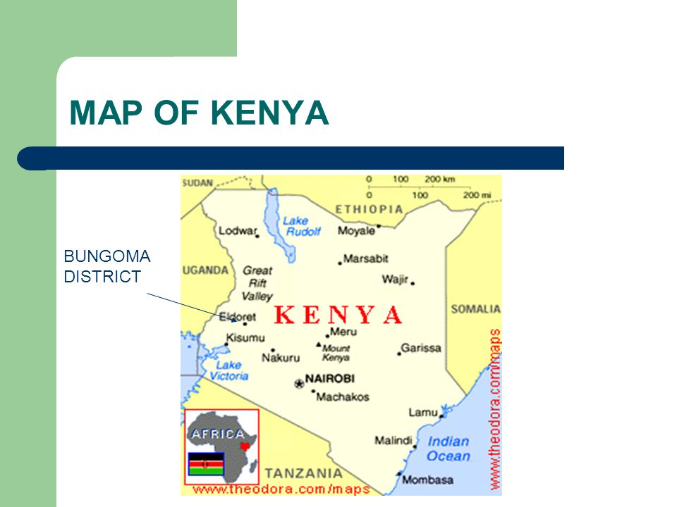 MAP OF KENYA BUNGOMA DISTRICT