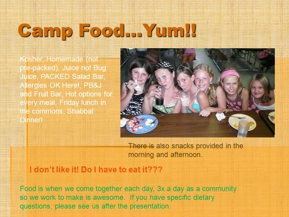 FAQ's from Campers  When do I take my medication.