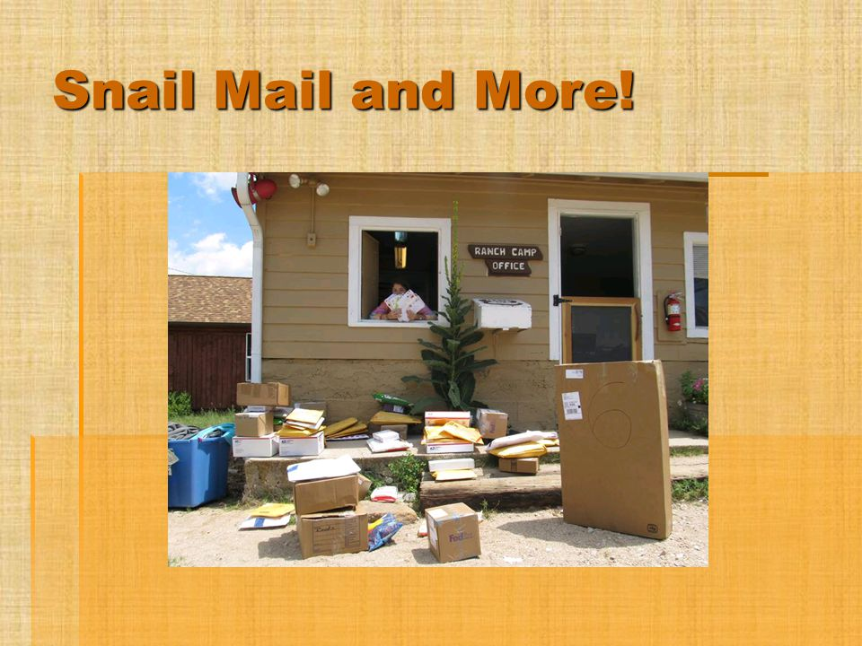 Snail Mail and More.
