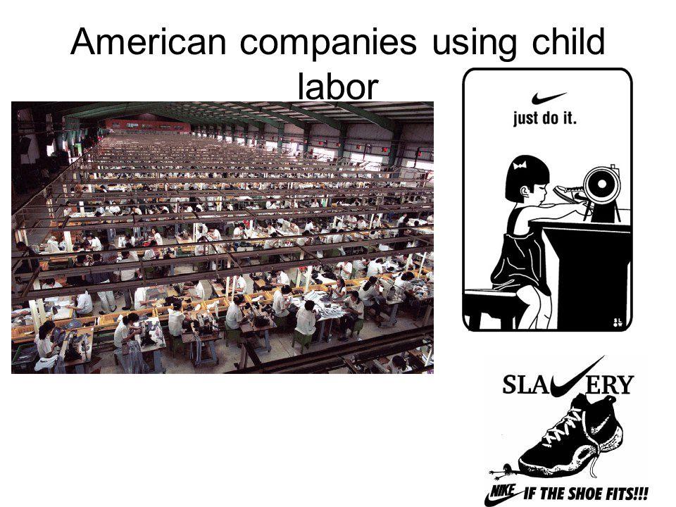 American companies using child labor