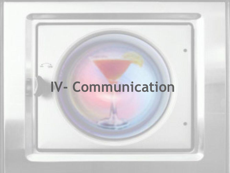 IV- Communication