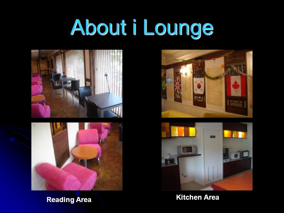 About i Lounge Reading Area Kitchen Area