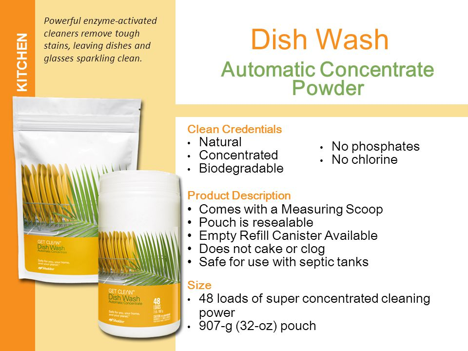 KITCHEN Automatic Concentrate Powder Dish Wash Clean Credentials Natural Concentrated Biodegradable Product Description Comes with a Measuring Scoop P
