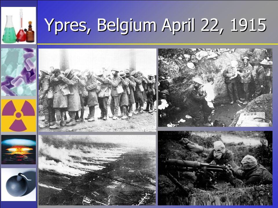 Ypres, Belgium April 22, 1915