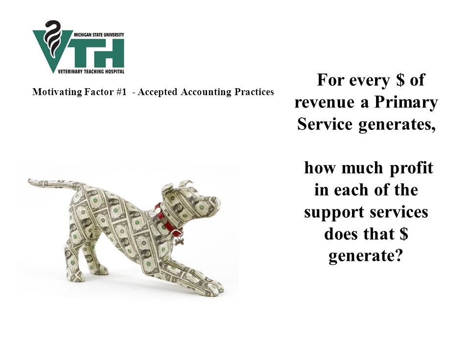 For every $ of revenue a Primary Service generates, how much profit in each of the support services does that $ generate.