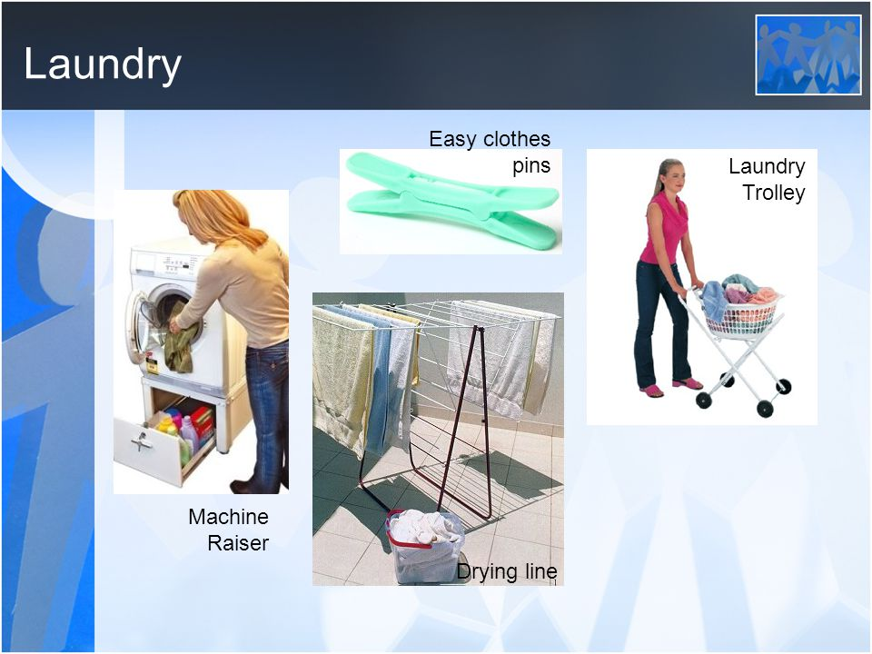 Laundry Machine Raiser Easy clothes pins Drying line Laundry Trolley