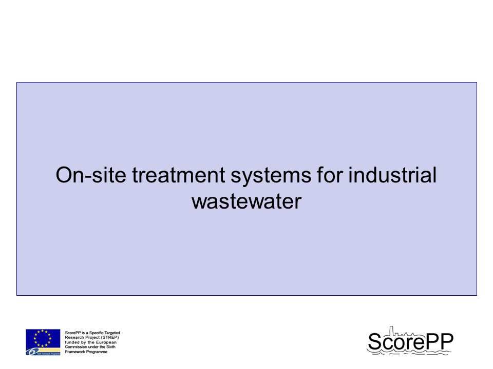 On-site treatment systems for industrial wastewater