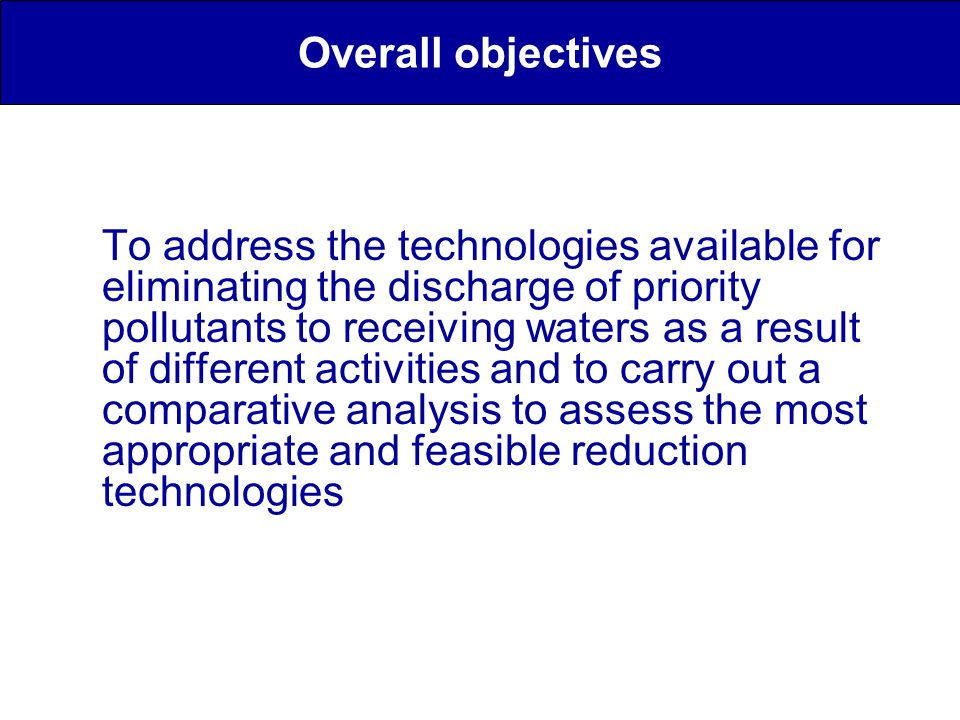 Stormwater BMPs Greywater treatment and reuse systems for household wastewater Industrial wastewater treatment Municipal wastewater treatments Sludge disposal Assessment of the feasibility of the different treatment options for PPs Treatment options considered in ScorePP