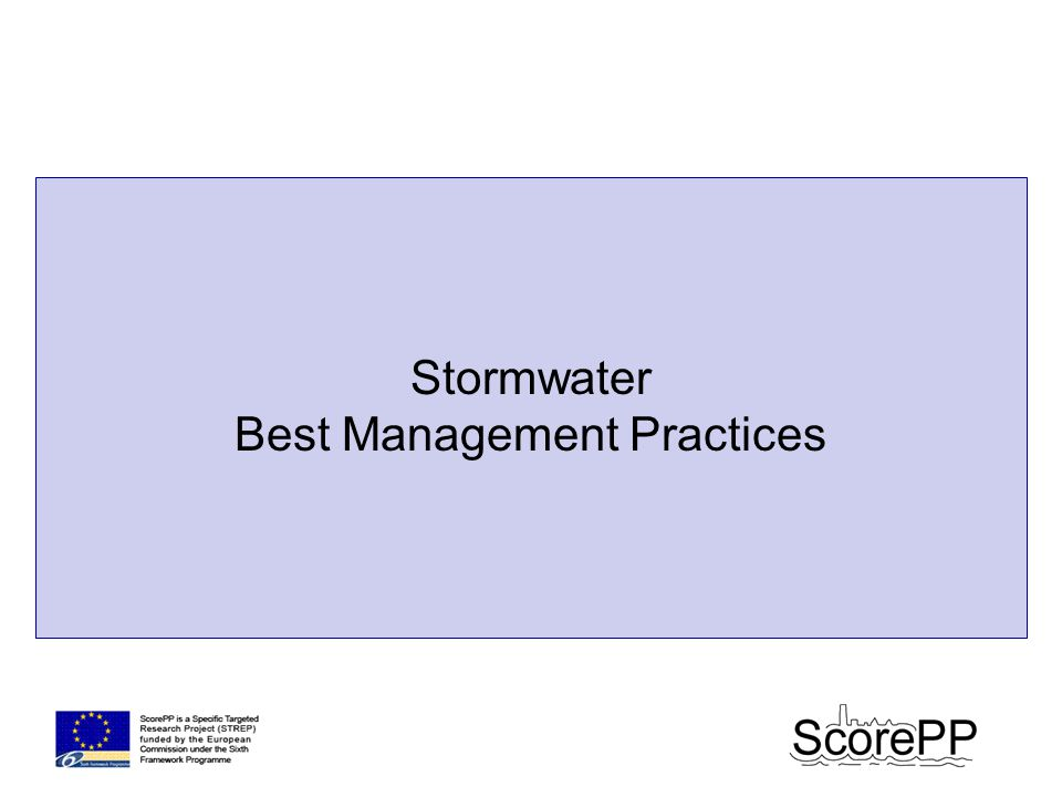Stormwater Best Management Practices