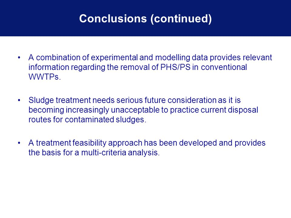 A combination of experimental and modelling data provides relevant information regarding the removal of PHS/PS in conventional WWTPs.