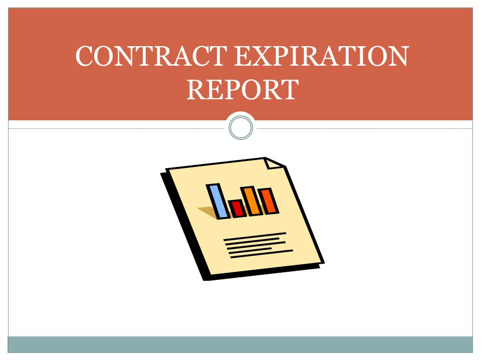 CONTRACT EXPIRATION REPORT