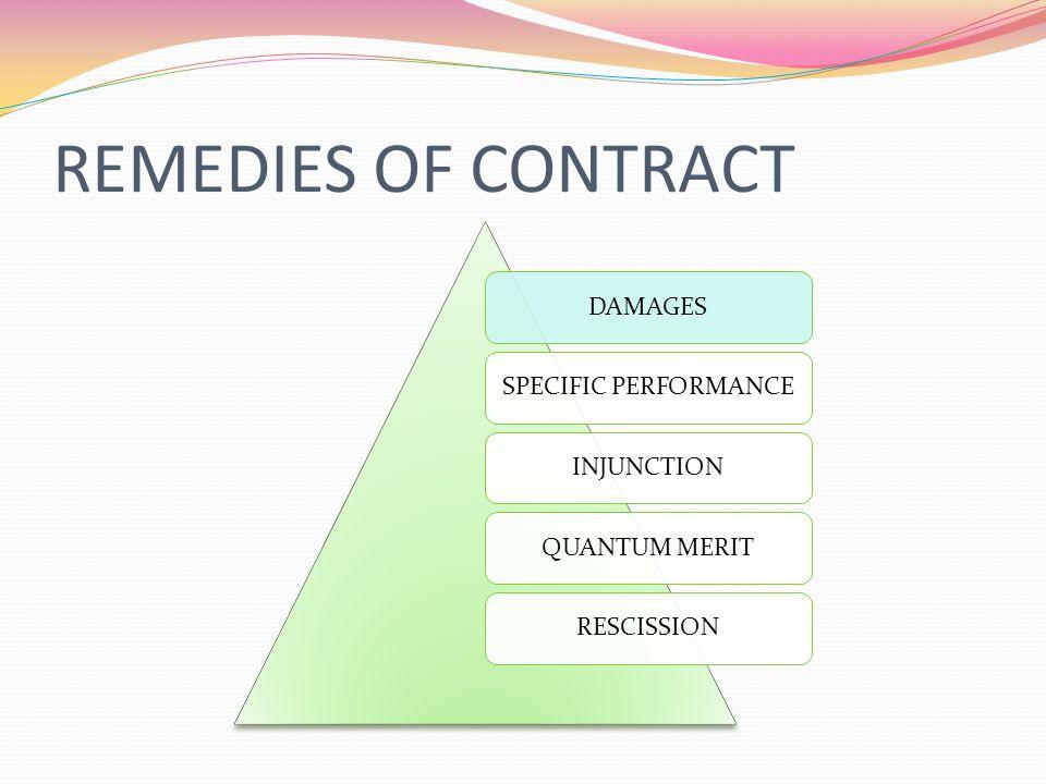 1. DAMAGES Categories of damages Types of Damages Liquidated damages