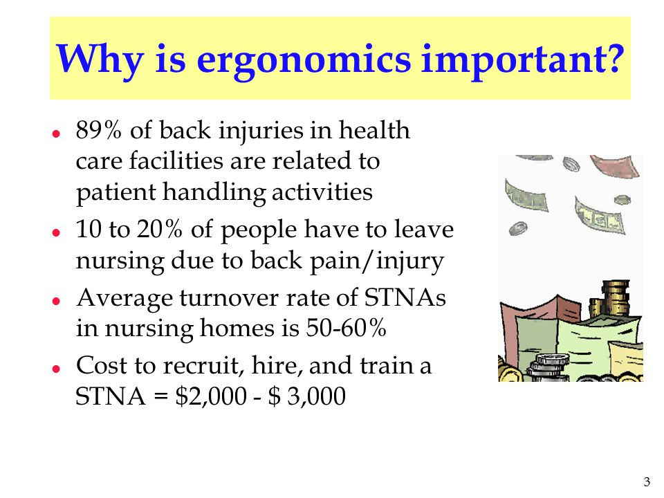 3 Why is ergonomics important.