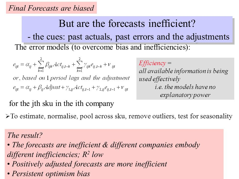 But are the forecasts inefficient.