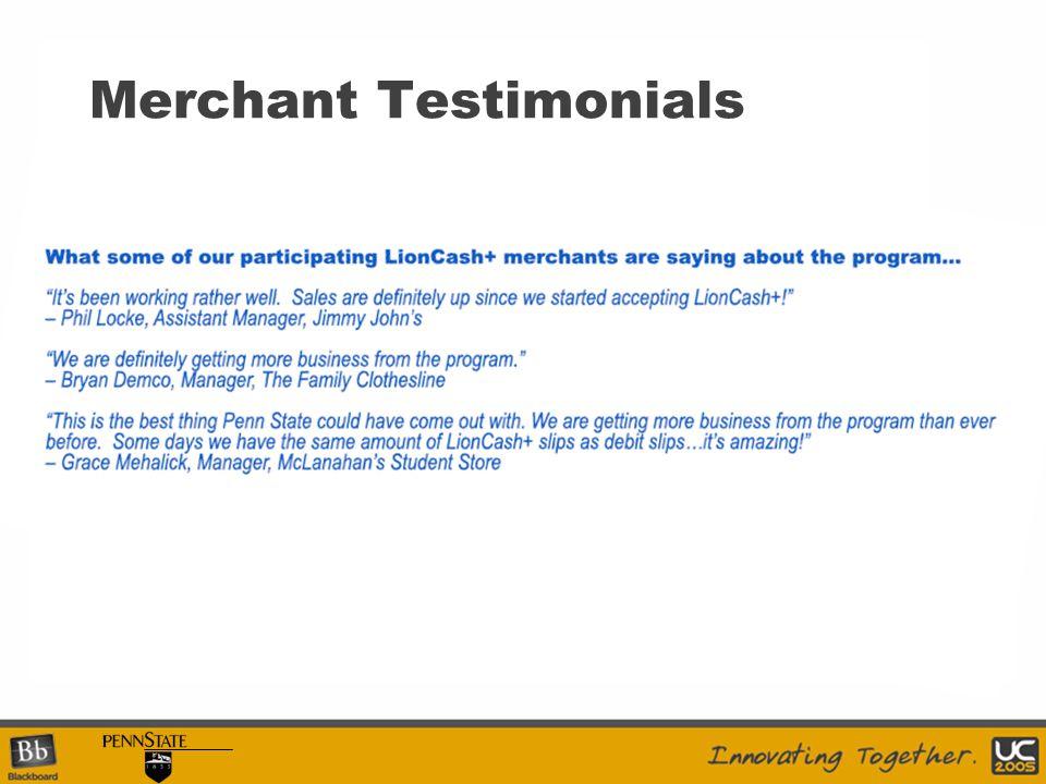 Merchant Testimonials