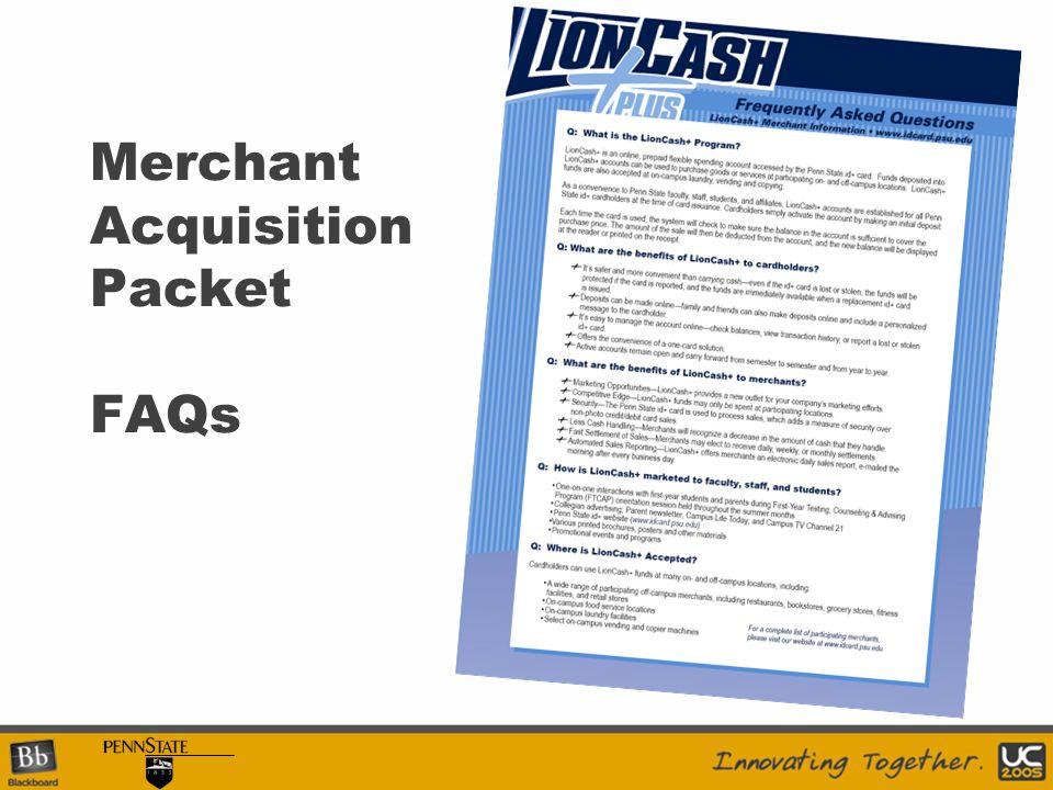 Merchant Acquisition Packet FAQs