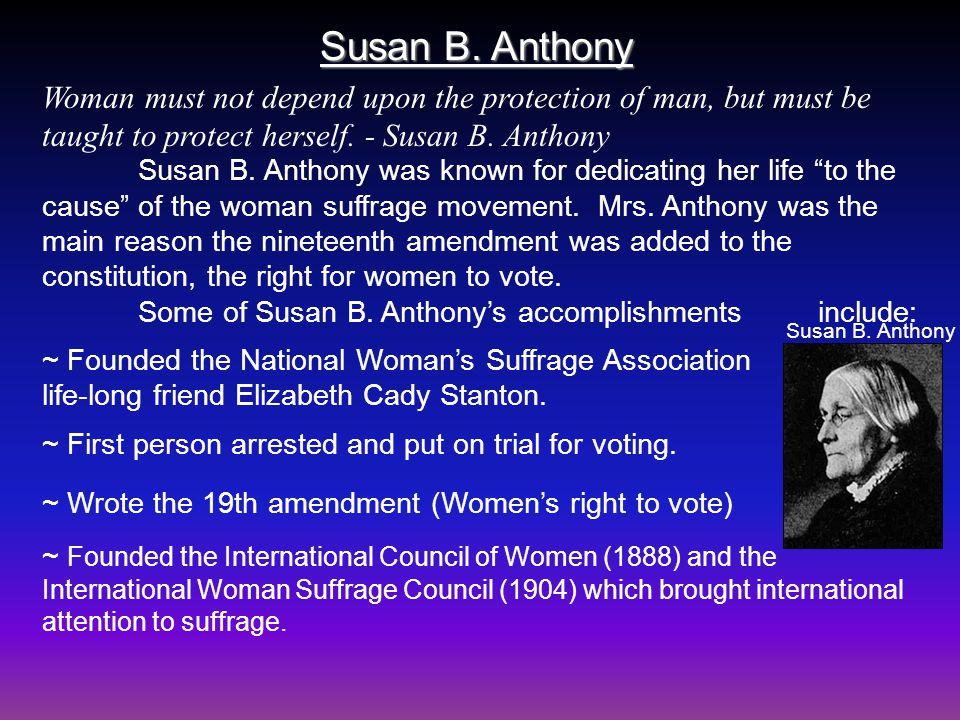 Susan B. Anthony Susan B.