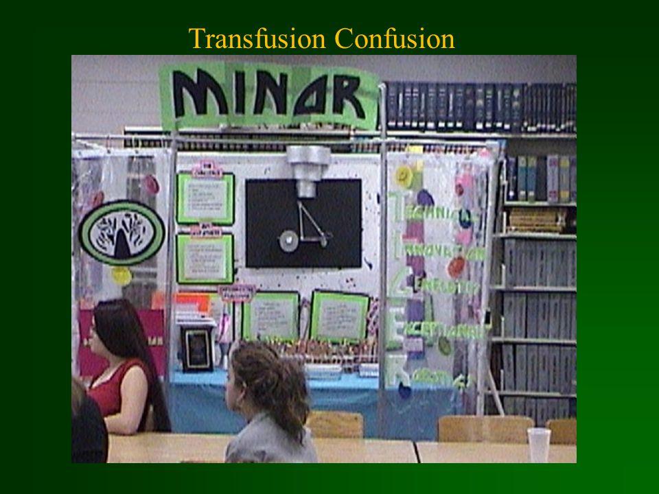 Transfusion Confusion