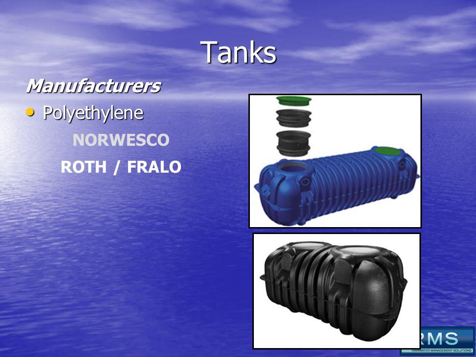 Tanks Manufacturers Polyethylene Polyethylene NORWESCO ROTH / FRALO