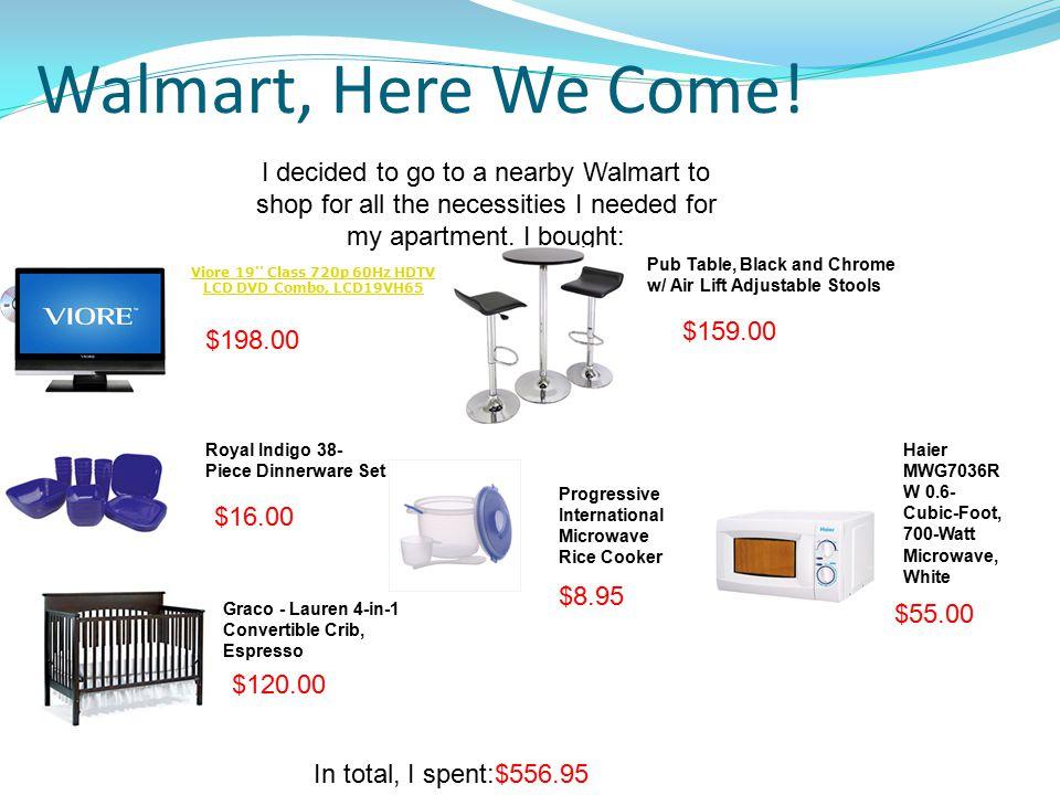 Walmart, Here We Come.