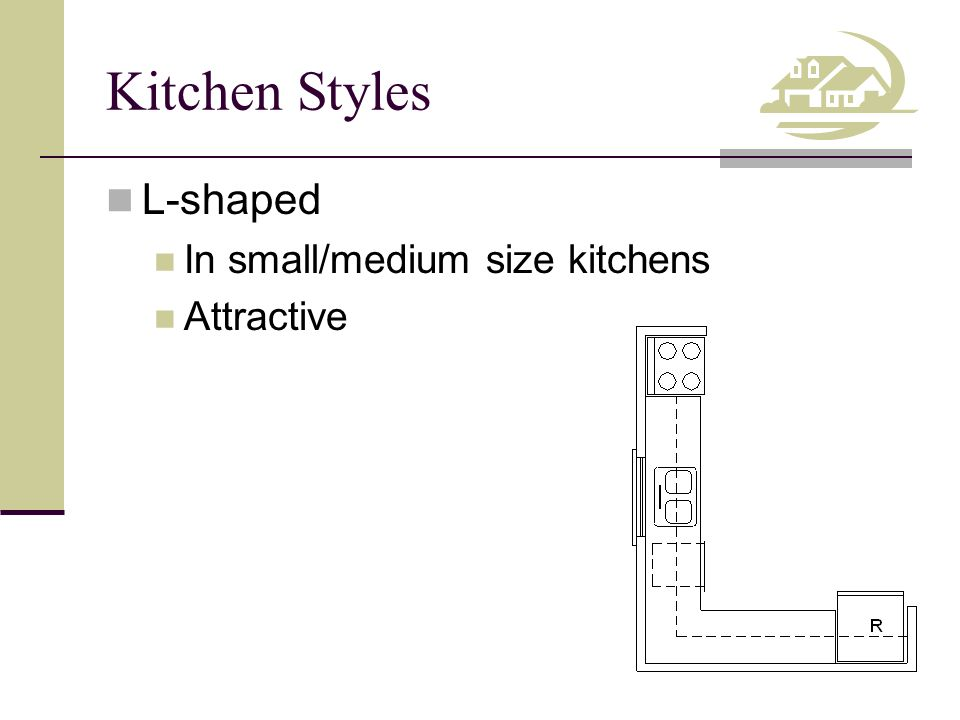 Kitchen Styles L-shaped In small/medium size kitchens Attractive
