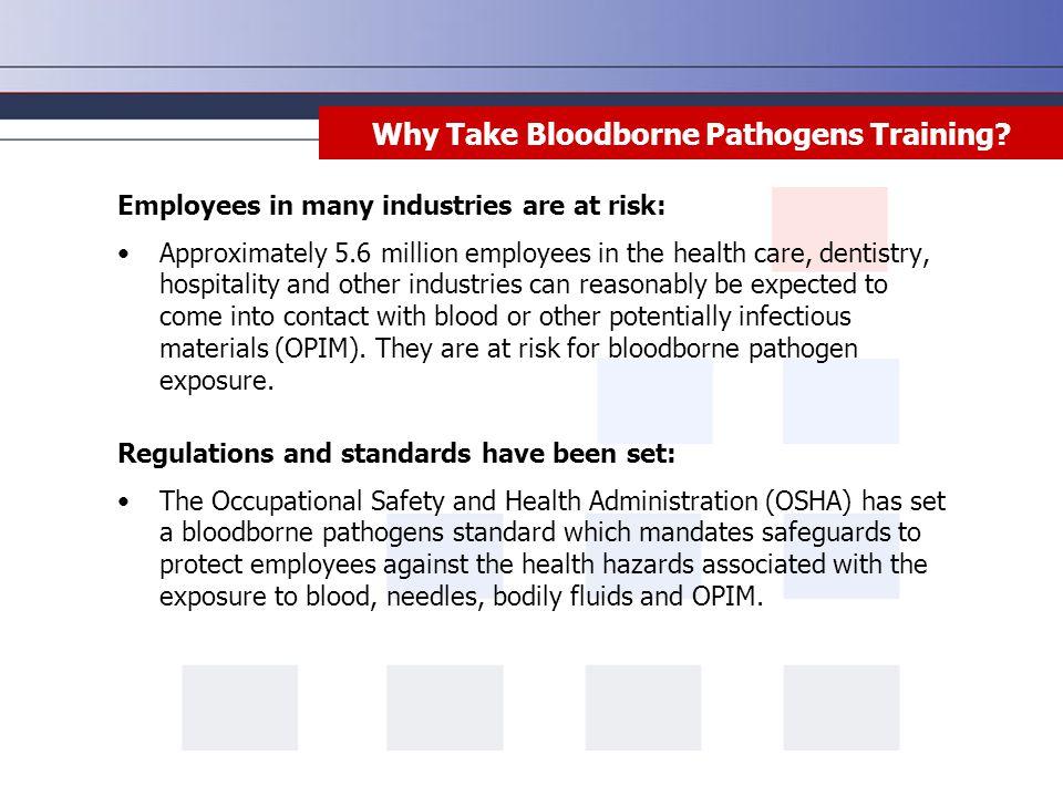 Why Take Bloodborne Pathogens Training.
