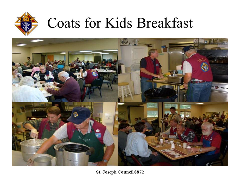 Coats for Kids Breakfast St. Joseph Council 8872