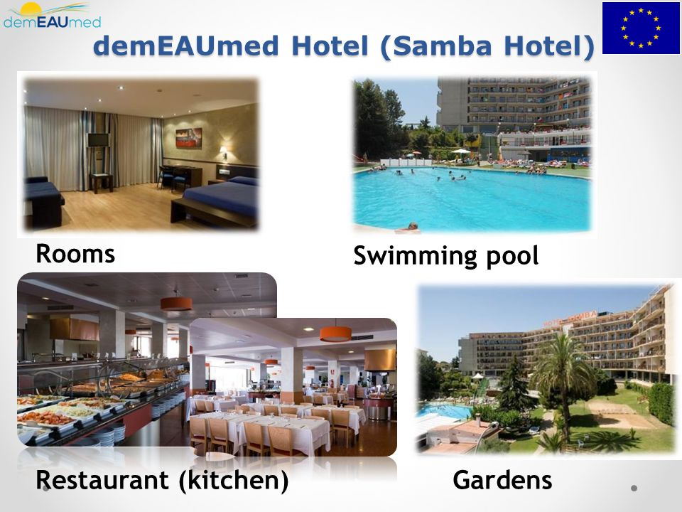 demEAUmed Hotel (Samba Hotel) Restaurant (kitchen) Rooms Swimming pool Gardens