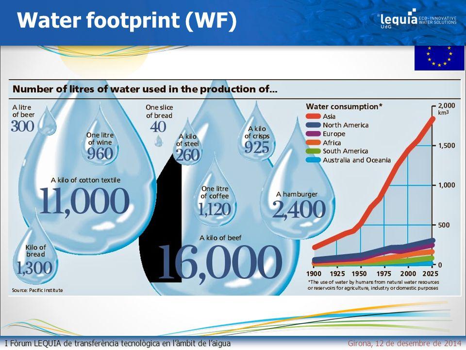 Water footprint (WF) I Fòrum LEQUIA de transferència tecnològica en l'àmbit de l'aigua I Fòrum LEQUIA de transferència tecnològica en l'àmbit de l'aiguaGirona, 12 de desembre de 2014