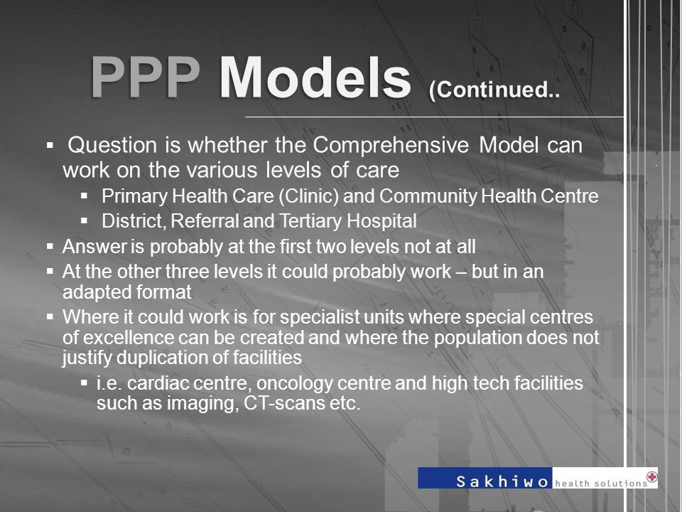 PPP Models (Continued...