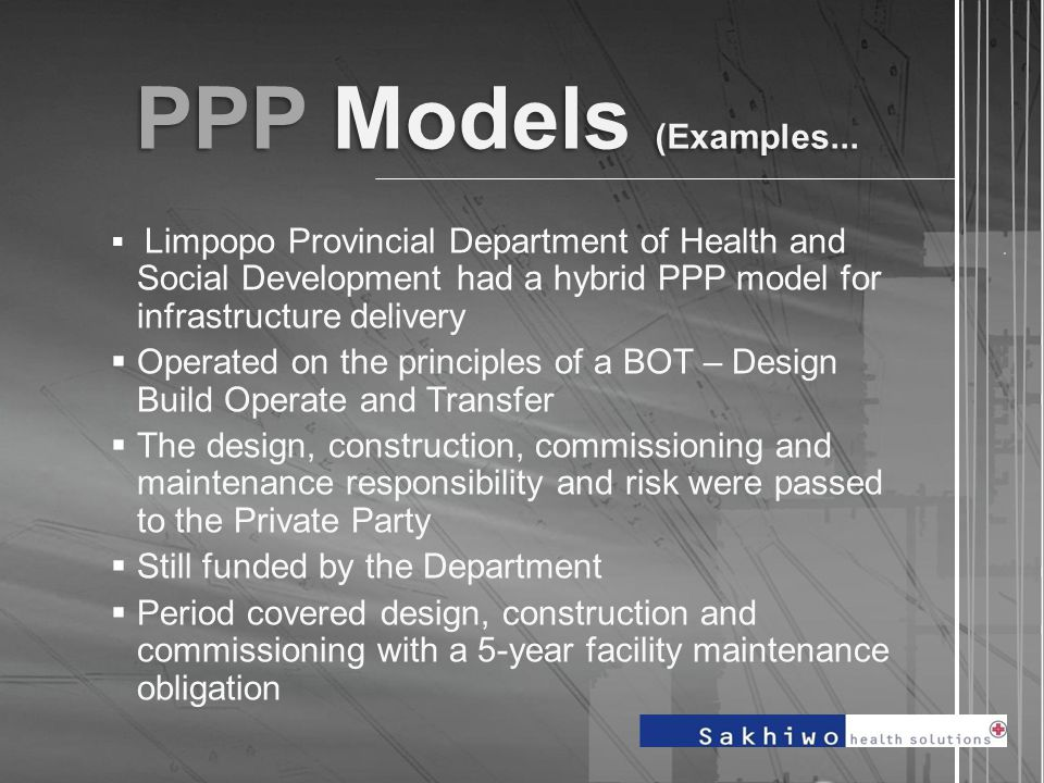 PPP Models (Examples....