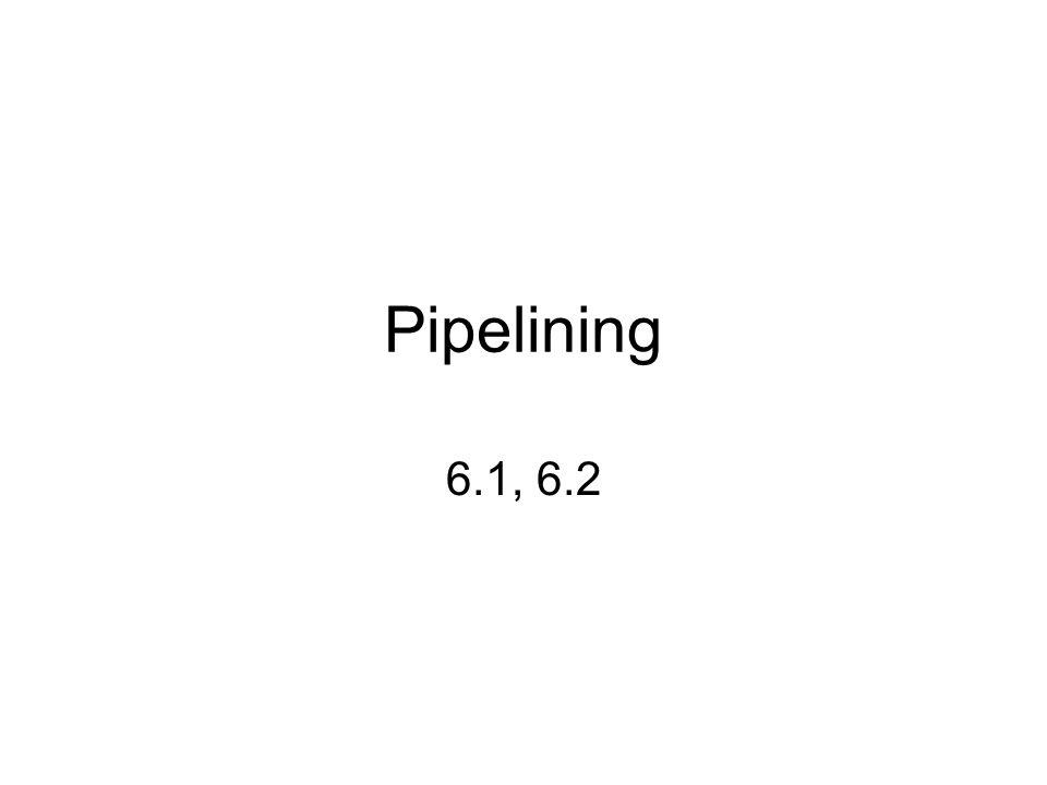 Pipelining 6.1, 6.2
