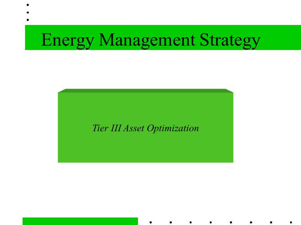 Energy Management Strategy Tier III Asset Optimization
