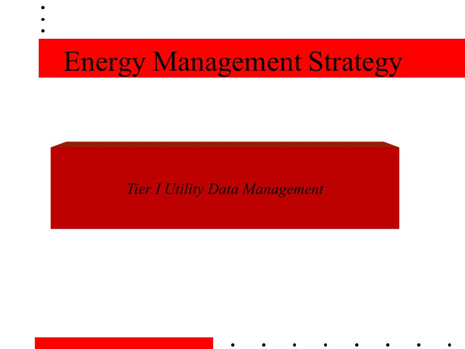 Energy Management Strategy Tier I Utility Data Management