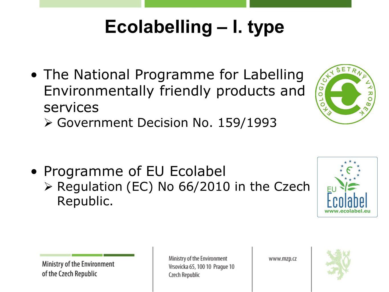 Ecolabelling – I.