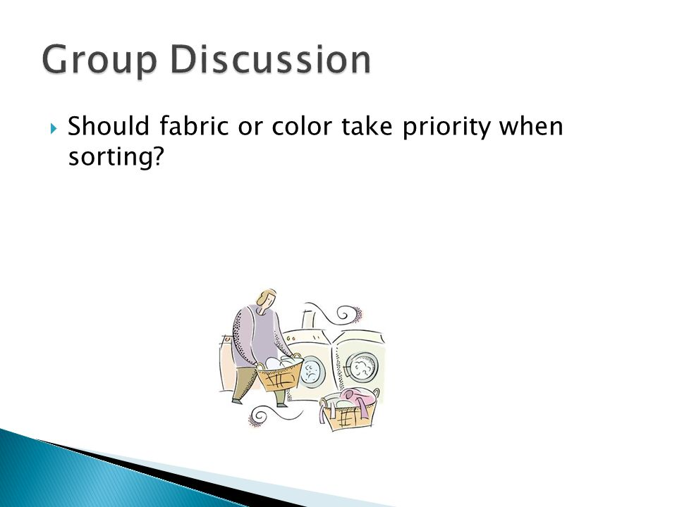  Should fabric or color take priority when sorting?