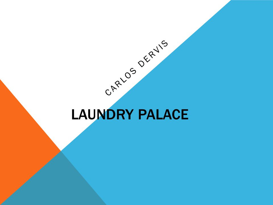 MY COMPANY The Laundry Palace provides the best customer service with the best machines and the best technology out there.