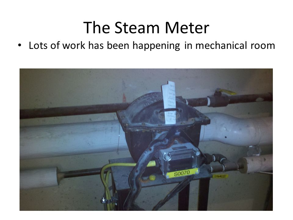 The Steam Meter Lots of work has been happening in mechanical room